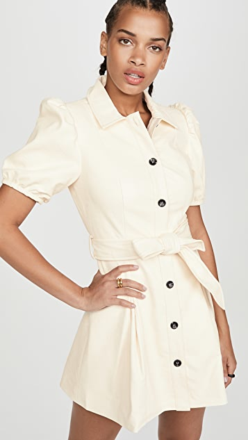 Moon River Puff Sleeve Mini Dress