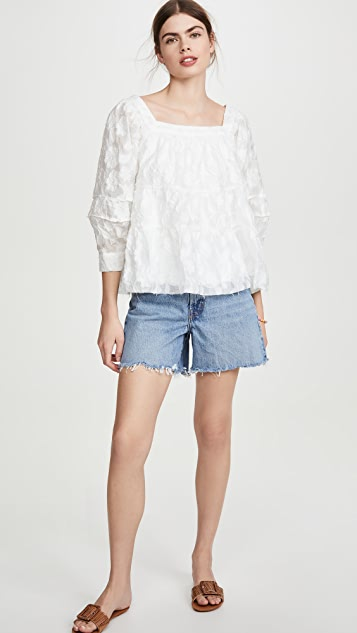 Moon River 白色女式衬衫
