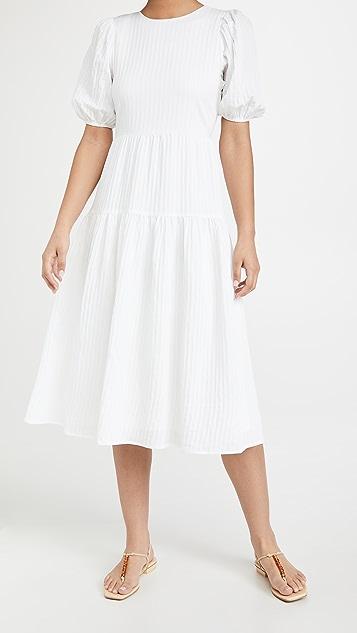 Moon River Shadow Stripe Dress