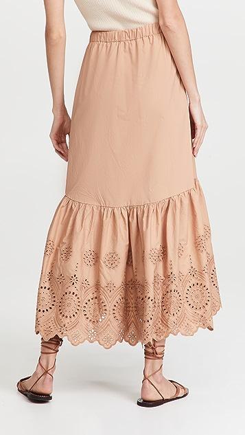 Moon River Eyelet Skirt