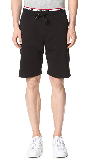 Moschino Cotton Fleece Jogging Shorts