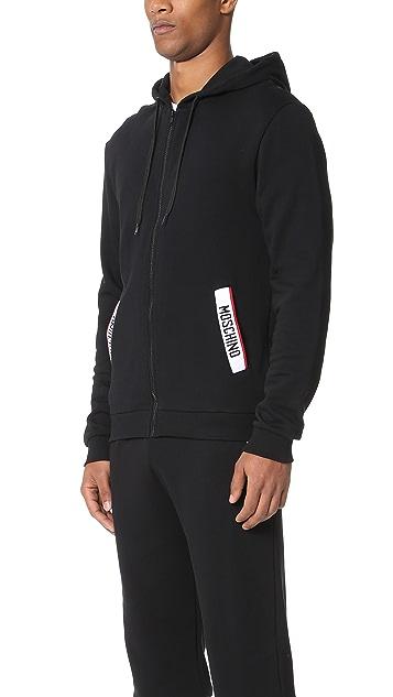 Moschino Logo Tape Hooded Sweatshirt