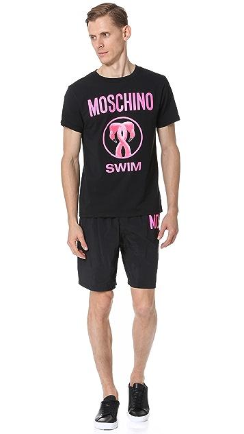 Moschino Flamingo Medium Swim Trunks