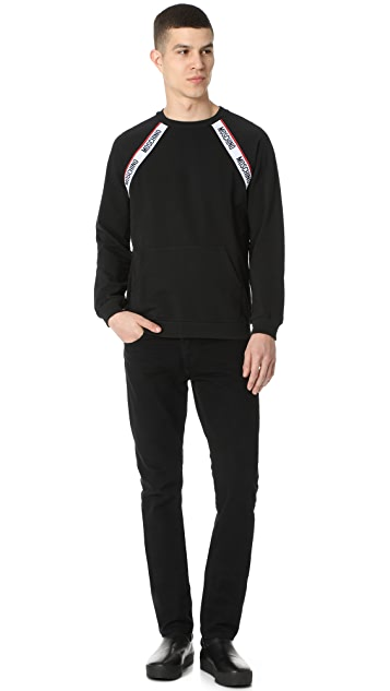Moschino Logo Taped Pullover