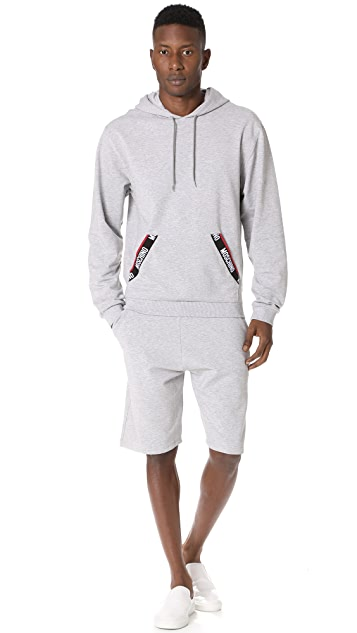 Moschino Cotton Fleece Pullover Hoodie