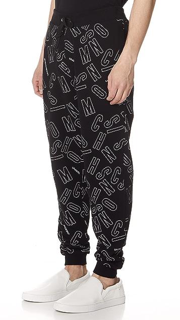 Moschino Print Sweatpants