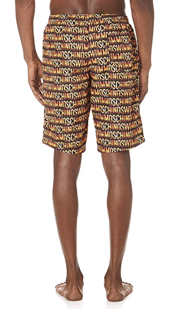 Moschino Moschino Text Board Shorts