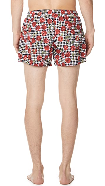 Moschino Cherry Swim Trunks