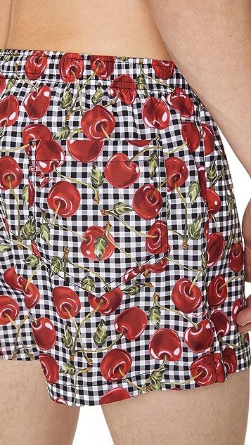Moschino Cherry Swim Trunks