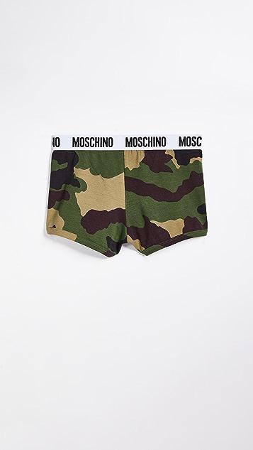 Moschino Jersey Stretch Camo Trunks