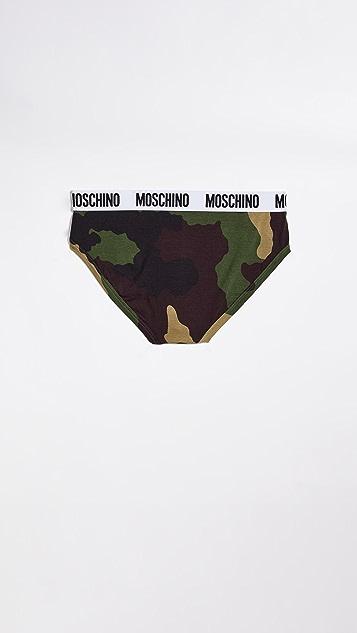 Moschino Jersey Stretch Camo Briefs