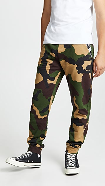 Moschino Cotton Fleece Camo Sweatpants