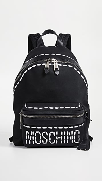 Moschino Stitch Logo Backpack
