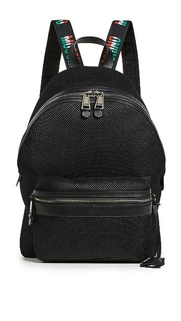 Moschino Tricolor Logo Trim Backpack