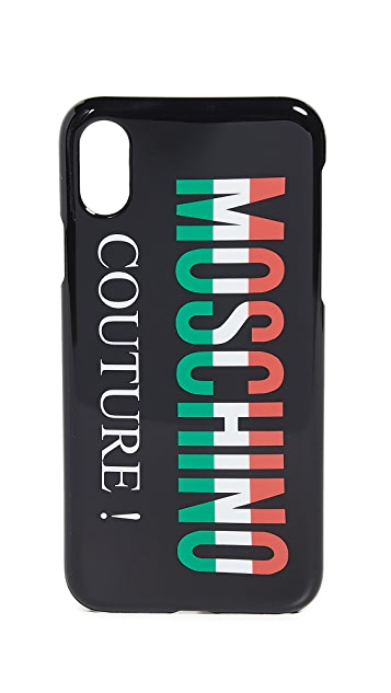 Moschino Tricolor Logo iPhone X Case
