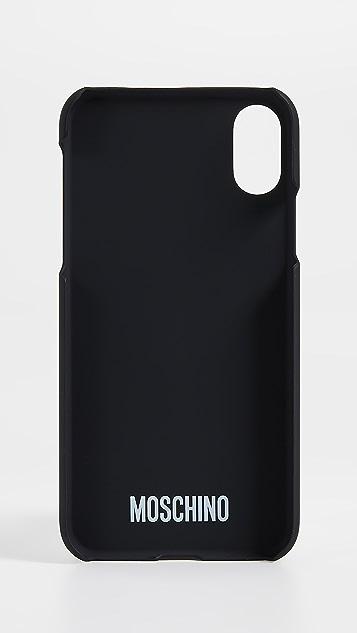 Moschino Stitch Logo iPhone X Case
