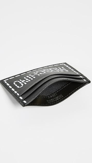 Moschino Stitch Logo Card Case