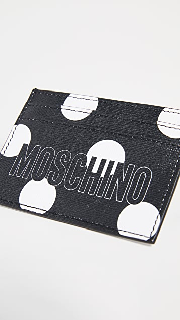 Moschino Polka Dot Card Case
