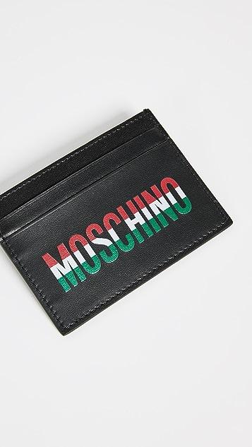 Moschino Tricolor Logo Card Case