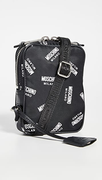 Moschino Multi Logo Small Crossbody Bag