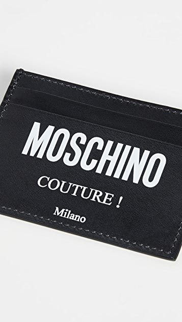 Moschino Couture Logo Card Case