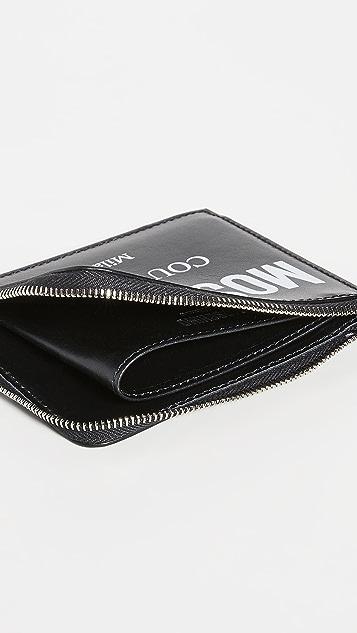 Moschino Zip Around Logo Wallet