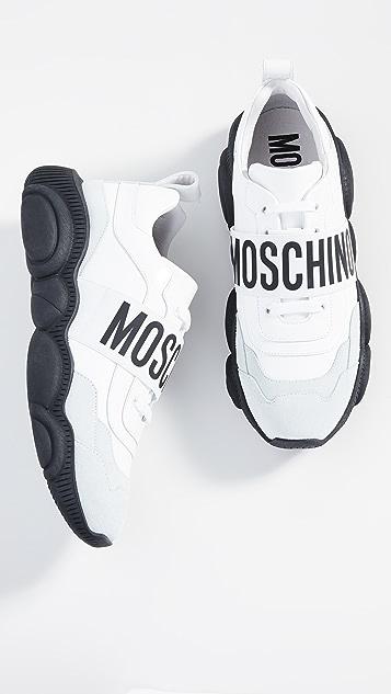 Moschino Teddy Logo Strap Sneakers