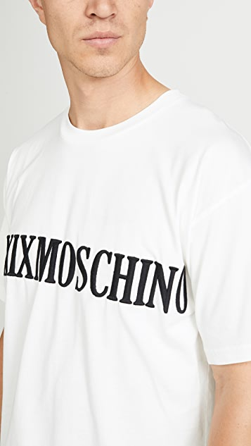 Moschino Roman Numeral Print Embroidered T-Shirt
