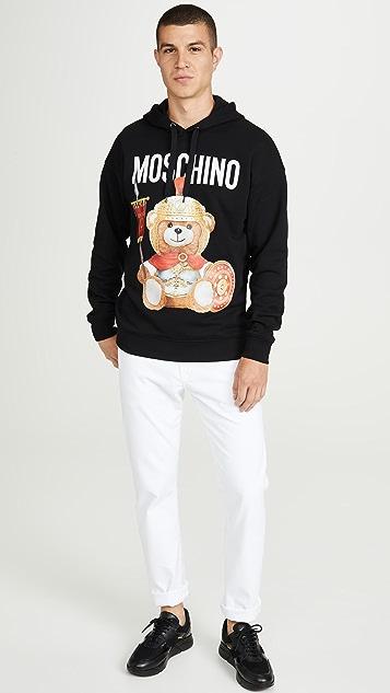 Moschino Roman Bear Pullover Hoodie