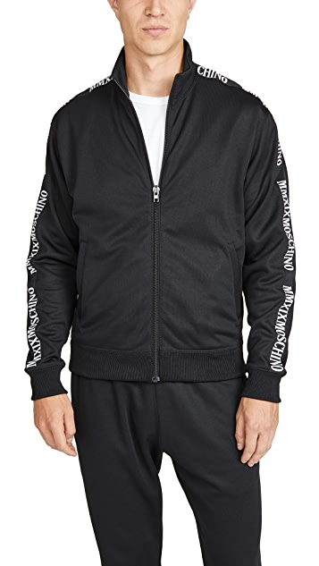 Moschino Track Jacket With Logo Taping