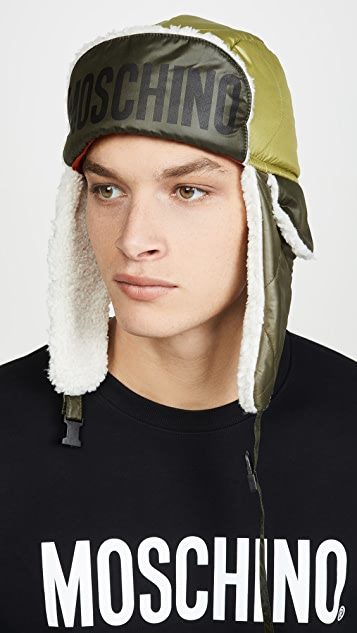 Moschino Logo Trapper Hat