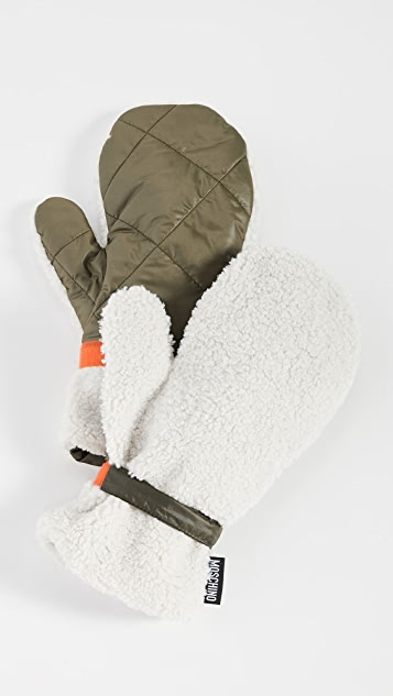 Moschino Quilted Mittens
