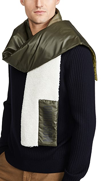 Moschino Quilted Reversible Scarf