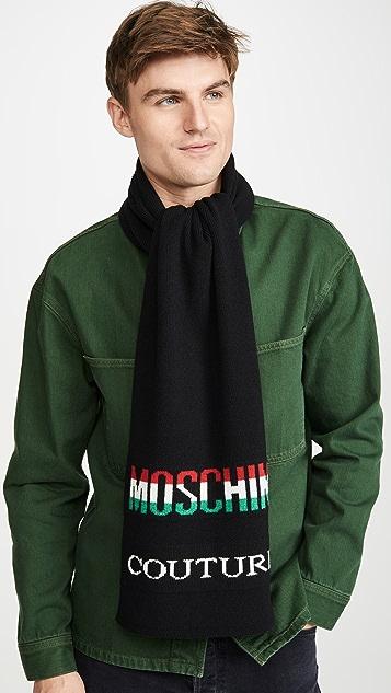 Moschino Tri-Color Logo Scarf