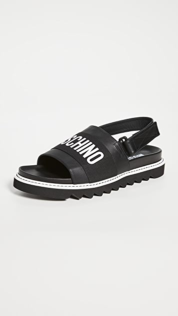 Moschino Logo Sandals