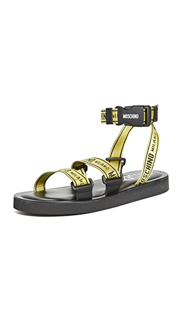 Moschino Logo Strap Sandals