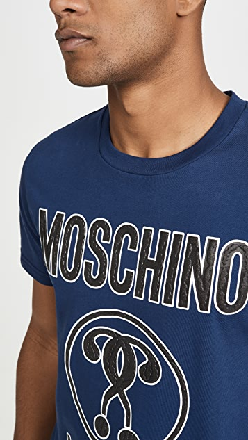 Moschino Vintage Wash Big Logo Short Sleeve Tee