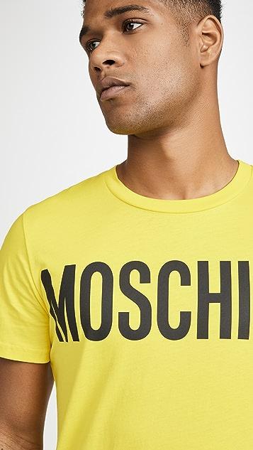 Moschino Big Logo Short Sleeve Tee