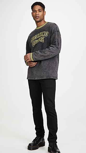 Moschino Vintage Wash Crew Neck Sweatshirt