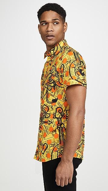 Moschino All Over Print Short Sleeve Shirt