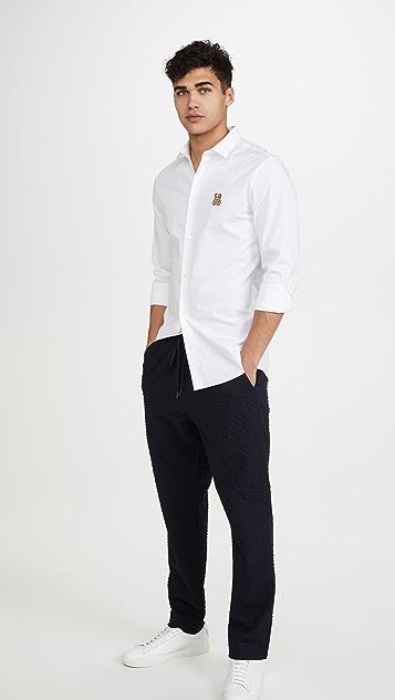 Moschino Small Bear Logo Long Sleeve Shirt