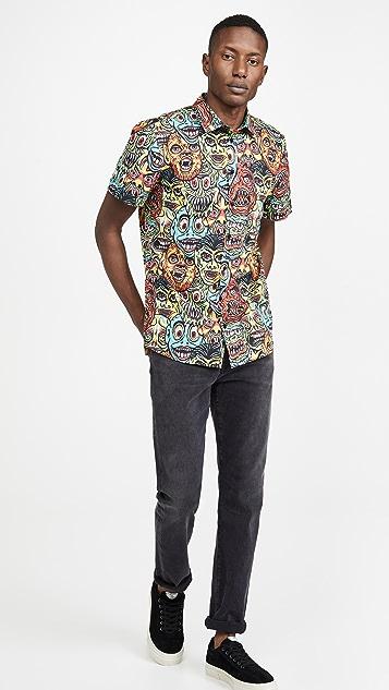 Moschino Allover Monster Print Shirt