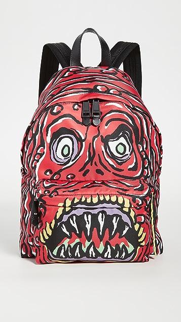 Moschino Printed Backpack