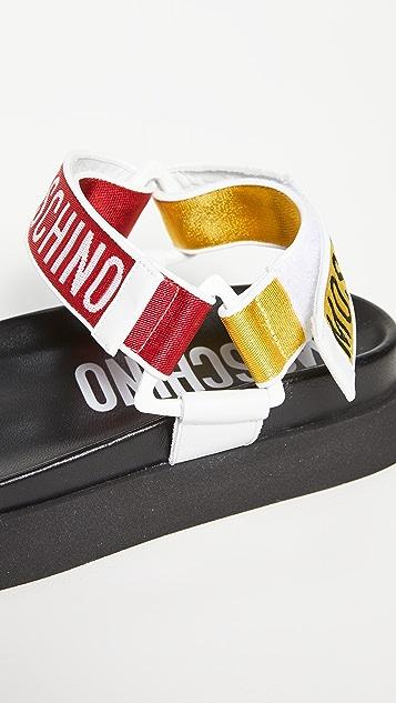 Moschino Logo Strap Sandals