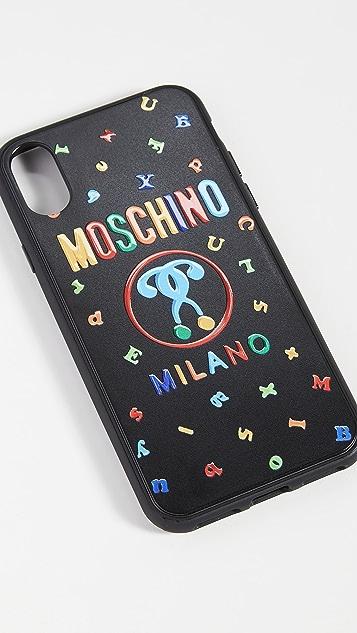 Moschino Logo X / XS iPhone Case