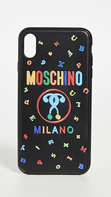 Moschino Logo XS Max iPhone Case