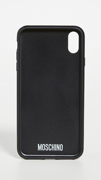 Moschino Logo XS Max iPhone Case