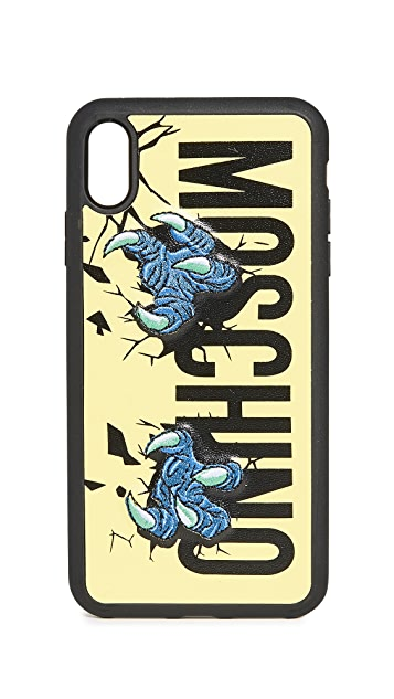 Moschino Logo Claws XS Max iPhone Case
