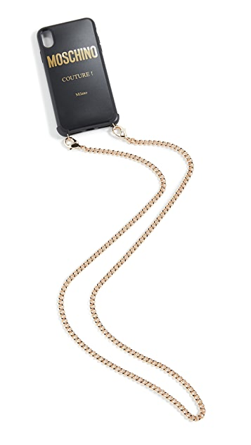 Moschino Logo iPhone XS Max iPhone Case with Chain