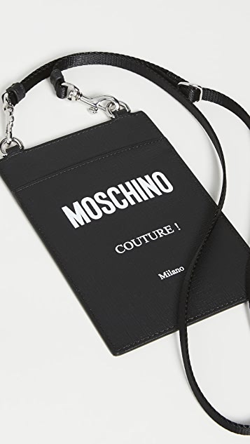Moschino Logo Lanyard Card Case